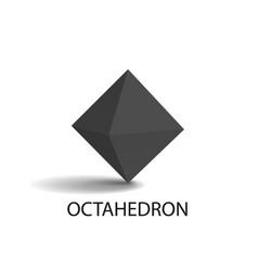 Octahedron geometric shape vector