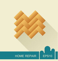 parquet floor icon vector image