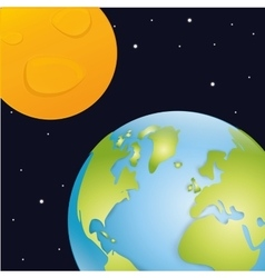 Planet design vector image