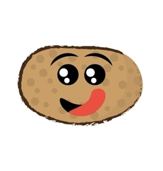 Potato expressions hungry face vector