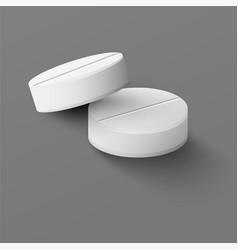 Realistic medical pills vector