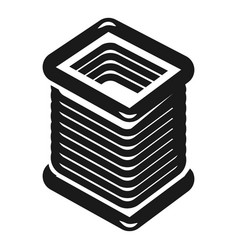 Rectangular coil icon simple style vector