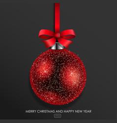 red glass christmas ball vector image