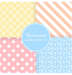 Restaurant or bistro theme pastel color stripes vector