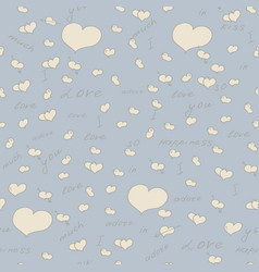 seamless pattern with hearts background vector image