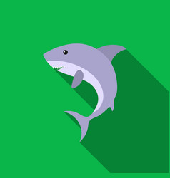 Shark icon flat singe animal icon from the big vector