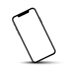 Smartphone rotated position with blank screen vector