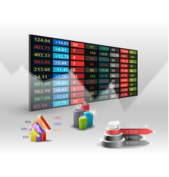 Stock market price display backgroundhand vector