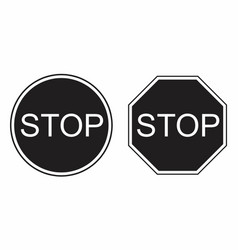 stop traffic signs vector image