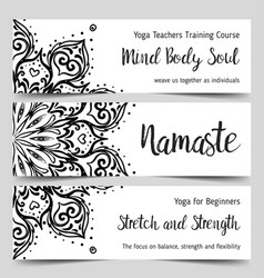 stretch and strength yoga card design template vector image