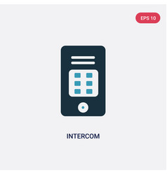 Two color intercom icon from smart house concept vector