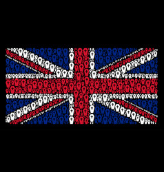 uk flag collage of coffin items vector image