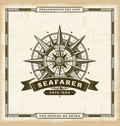 Vintage seafarer label vector