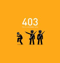 Website error 403 forbidden artwork depicts vector