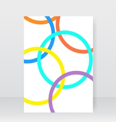 White brochure with abstract circles vector