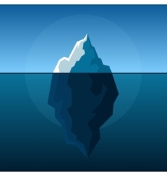White Iceberg on Blue Atlantic Background vector