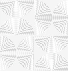 White paper 3d striped semi circles vector