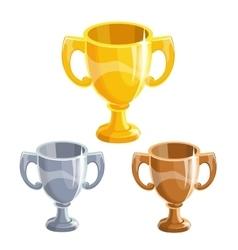 Winner cups set vector image