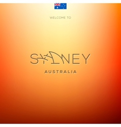 World cities labels -sydney vector