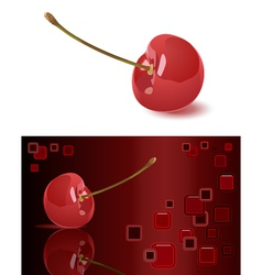 Cherry and abstract background vector image vector image