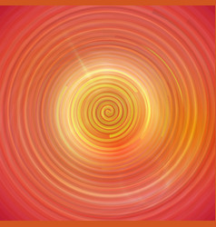 Colorful orange swirling cyclone background with vector