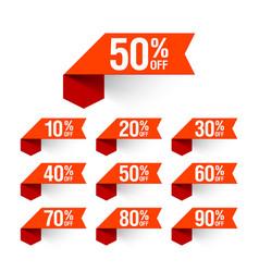 Sale discount labels vector image vector image