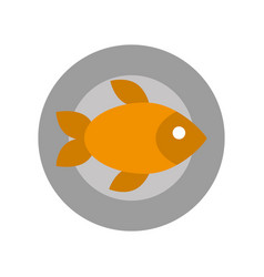 tray with delicious fish vector image