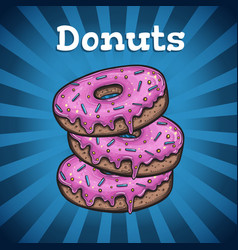 banner with donuts vector image vector image