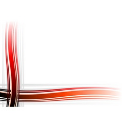 corner decoration on the white background vector image