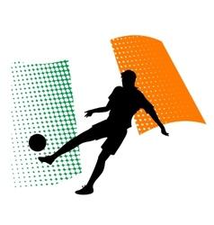 ecuador soccer player against national flag vector image vector image