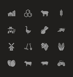 farming - flat icons vector image