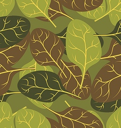 Military texture of leaves Spinach Camouflage army vector image