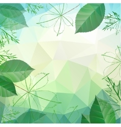 Abstract spring and summer background with leaves vector image vector image