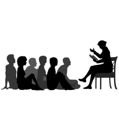 Adult storytime vector image