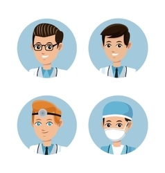 collection doctor occupation emergency vector image vector image