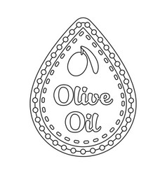 label of olive oilolives single icon in outline vector image
