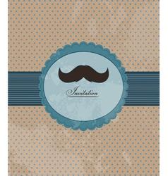 Moustache background invitation vector image vector image