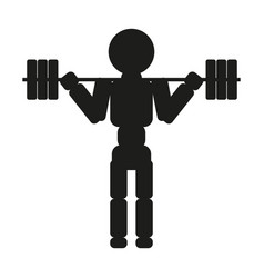 weightlifter silhouette against white vector image