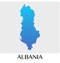 albania map in europe continent design vector image
