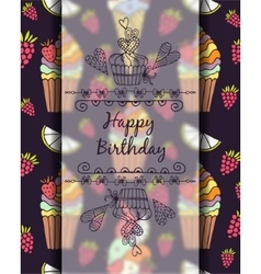 frame for text Happy Birthday Graphics drawn by vector image vector image