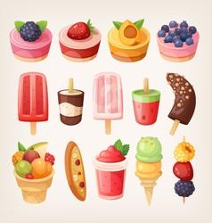 Fruit desserts vector image vector image