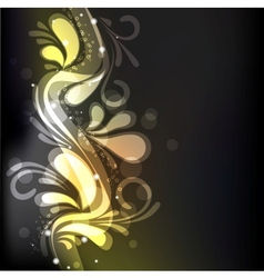 groovy floral decoration vector image vector image