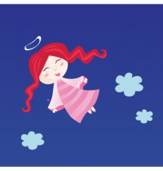 little child in angel costume vector image vector image