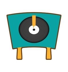 turntable vinyl record lp vector image vector image