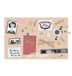 Vintage blog banner with nice elements for the vector image vector image