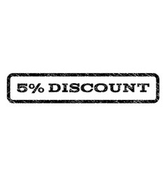 5 percent discount watermark stamp vector
