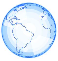 abstract clobe icon vector image