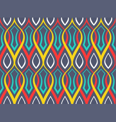 Abstract geometric pattern with ornament of wavy l vector