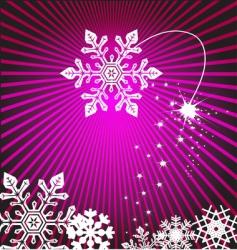 abstract snowflake design vector image