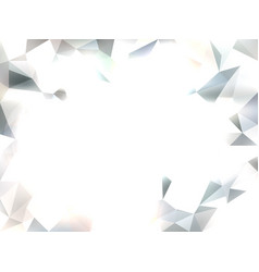 abstract white background with triangles vector image